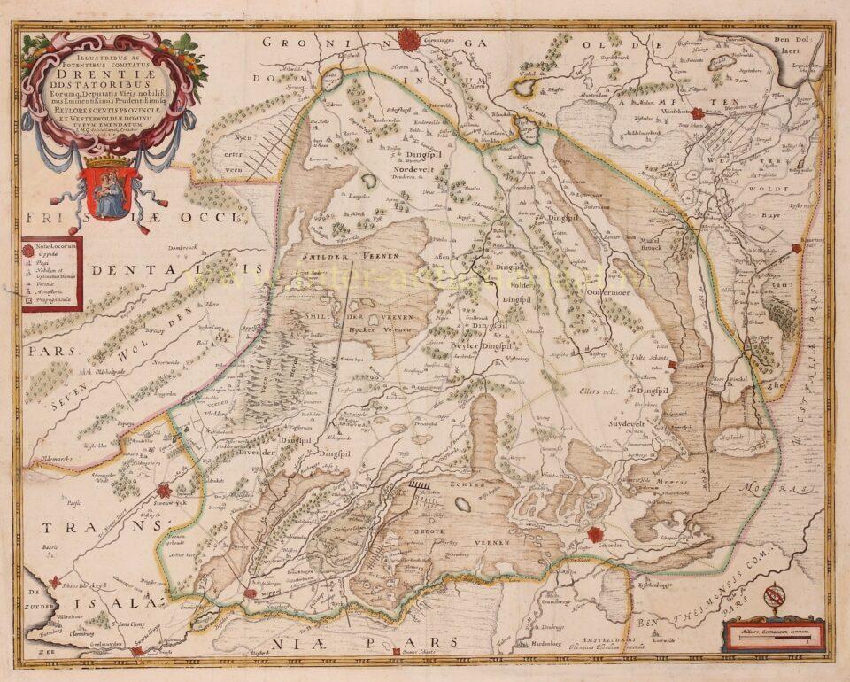 16e-eeuwse kaart van Drenthe