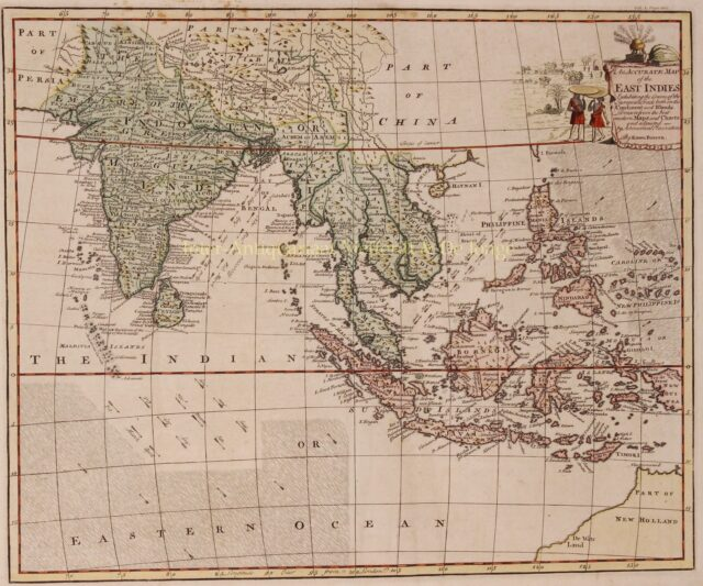 18th century map of the East-Indies