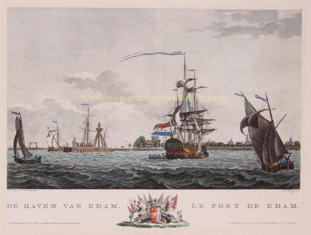 De haven van Edam 18e-eeuw