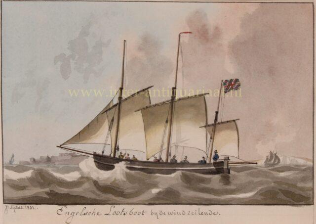 19de eeuwse Engelse loodsboot
