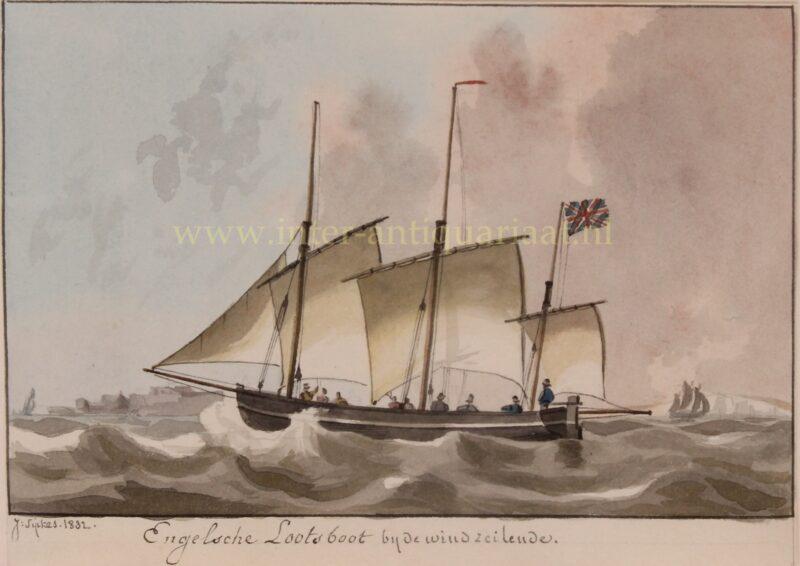 Engelse loodsboot – Joseph Sipkes, 1832
