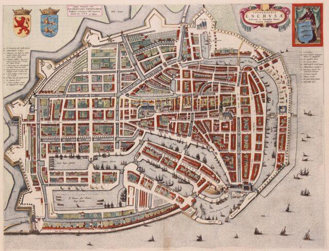 17e-eeuwse plattegrond van Enkhuizen