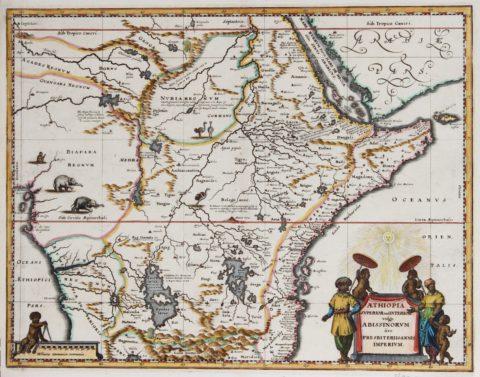 Map of Abissinia – c. 1670