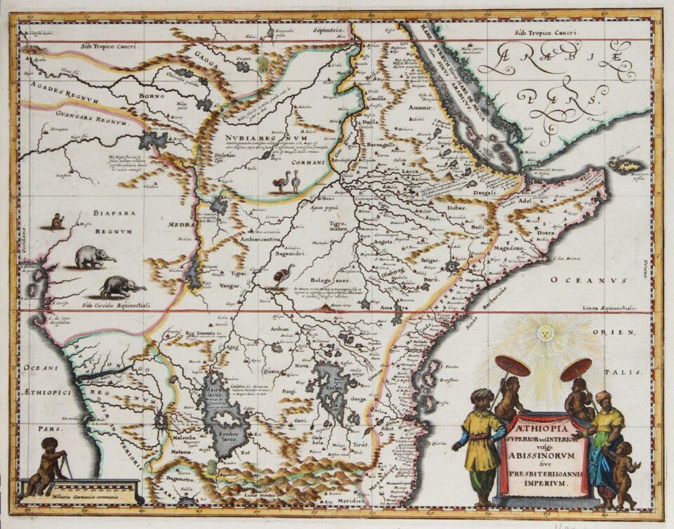 Map of Abissinia - c. 1670
