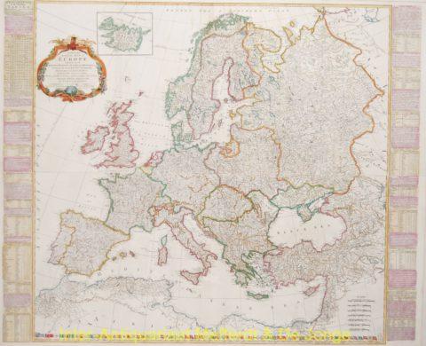 Europe antique map – Kitchin