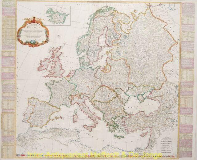 Europe antique map - Kitchin