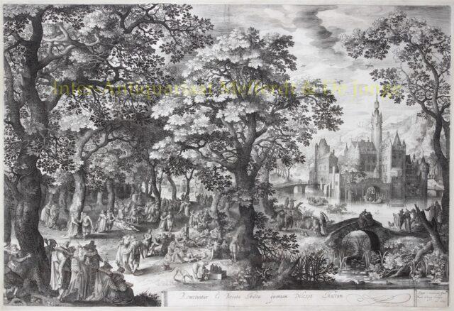 Boslandschap - David Vinckboons / Nicolaes de Bruyn