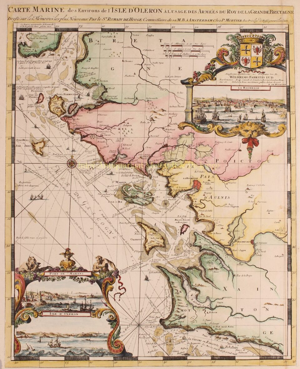 old map of France Charente-Maritime