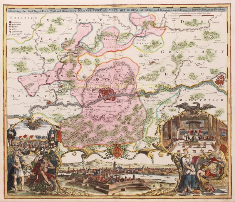 Frankfurt am Main – Johann Baptist Homann, ca. 1715