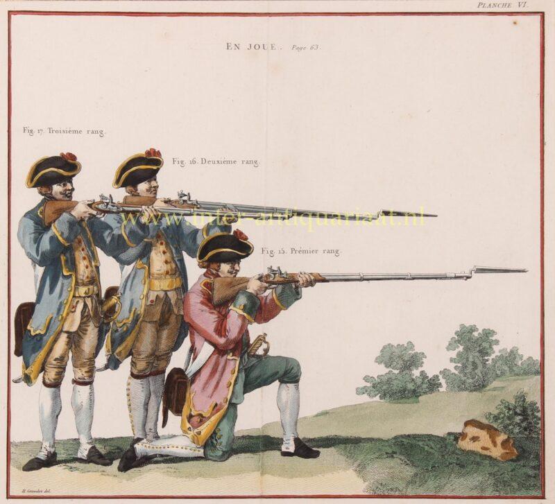 Franse infanterie – naar Hubert-François Gravelot, 1766
