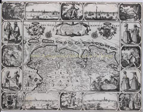 Land van de Friezen – Pieter van den Keere, 1610