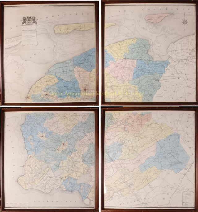 19e-eeuwse wandkaart van Friesland