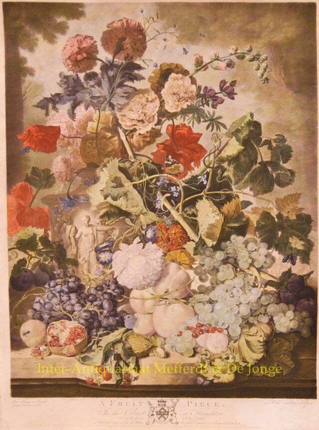 Fruitstilleven - naar Jan van Huysum