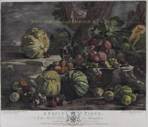 Fruitstilleven – John Boydell naar Michelangelo di Campidoglio, 1779