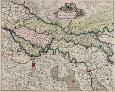 Hertogdom Gelderland, Kwartier van Nijmegen – Frederick de Wit, 1680