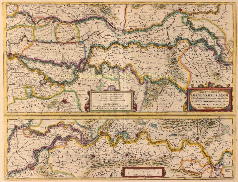 Gelderland, Land van Rijn, Maas en Waal – Henricus Hondius, 1634