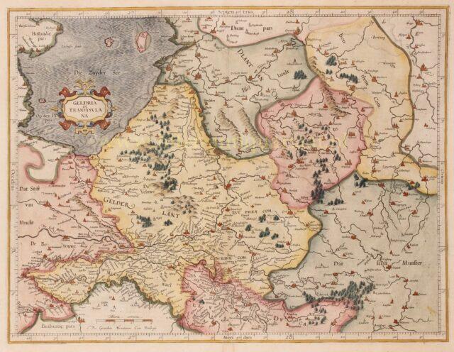 kaart van Gelderland en Overijssel door Mercator/Hondius