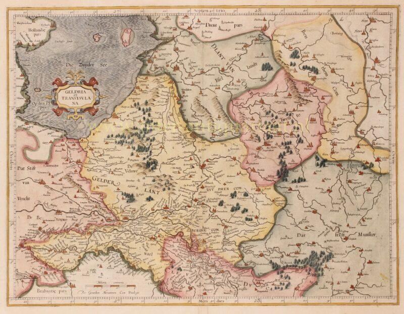 Gelderland en Overijssel – Gerard Mercator + Jodocus Hondius, 1619
