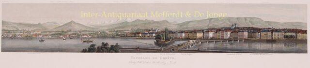 19de-eeuws panorama van Genève