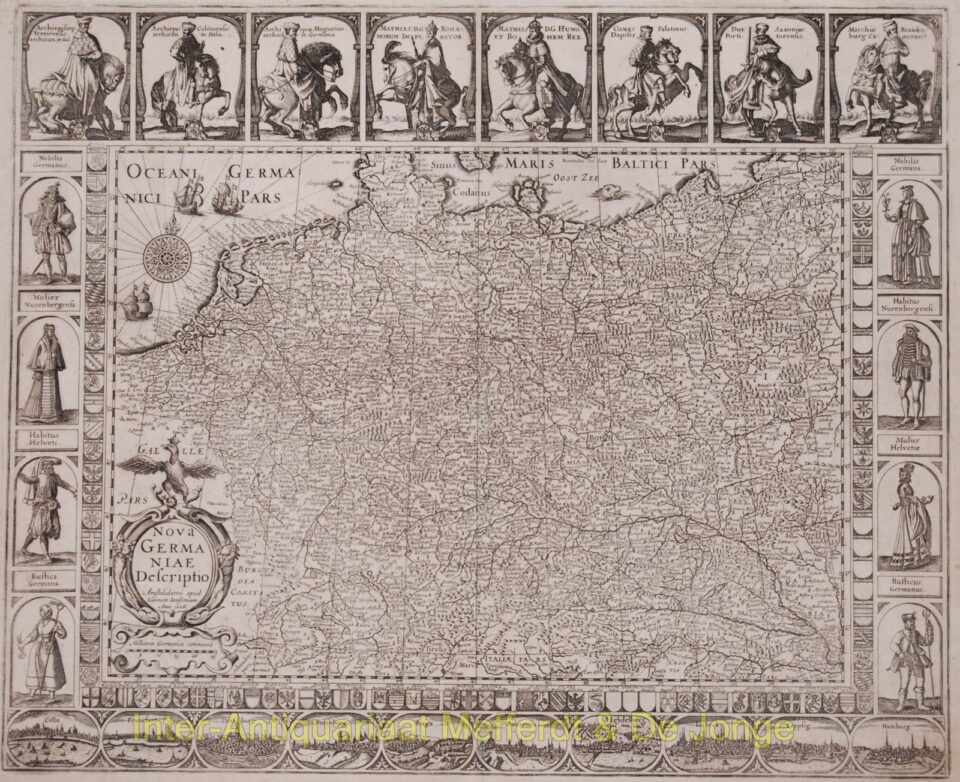 Antique Germany map - Janssonius