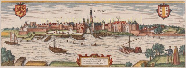 gezicht op 16e-eeuws Gouda
