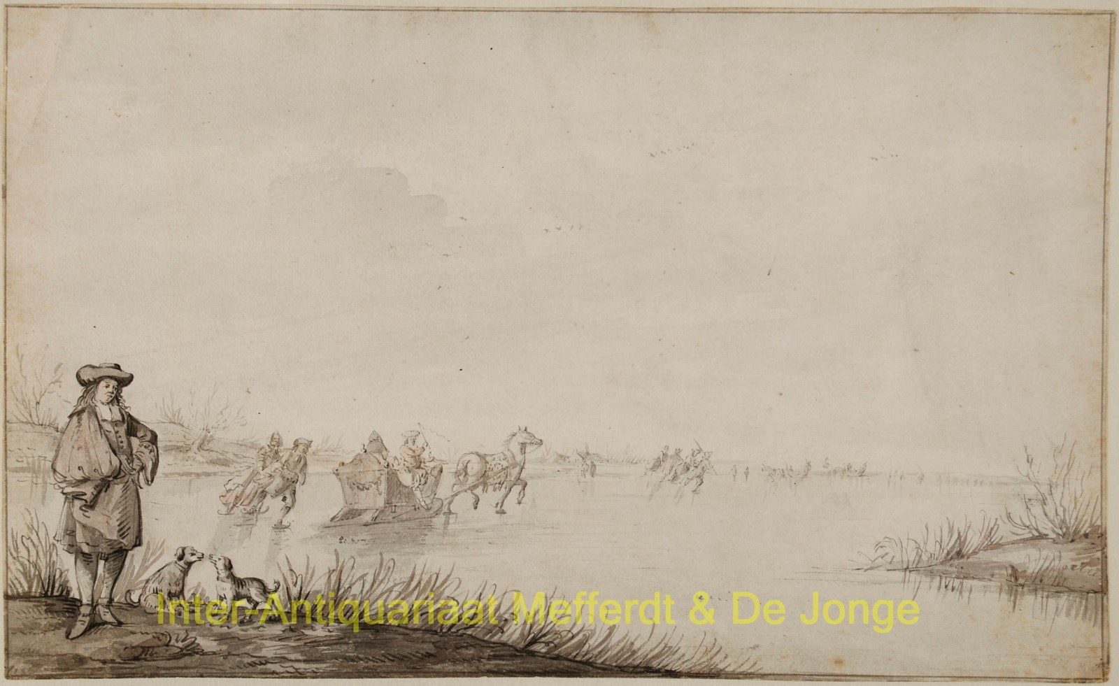 Grasdorp, Gerrit - Dutch winter scene, ice skating