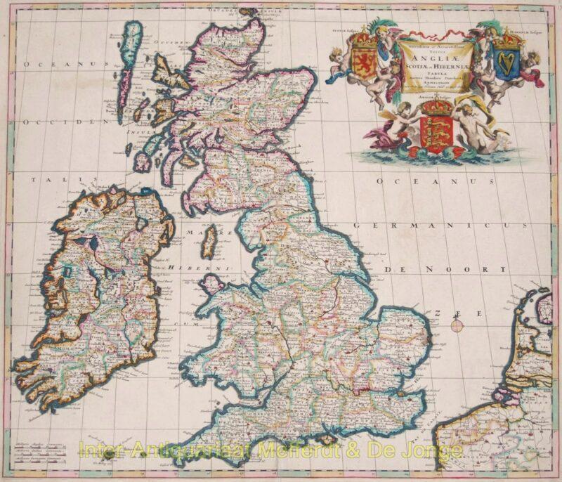Brtitish Isles antique map – Danckerts, 1687