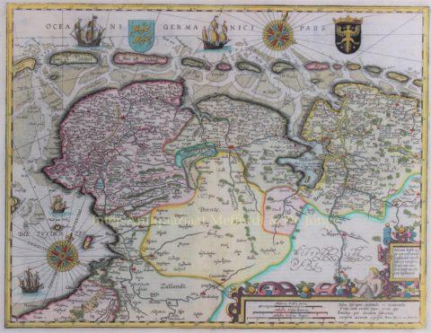 Groningen, Friesland, Wadden – Pieter van der Keere, 1617