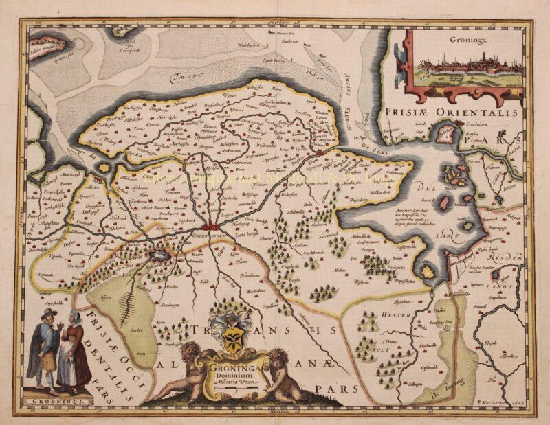 Groningen en Ommelanden – Pieter van der Keere, 1622