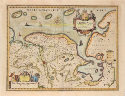 Groningen en Ommelanden – Johannes Janssonius, 1633