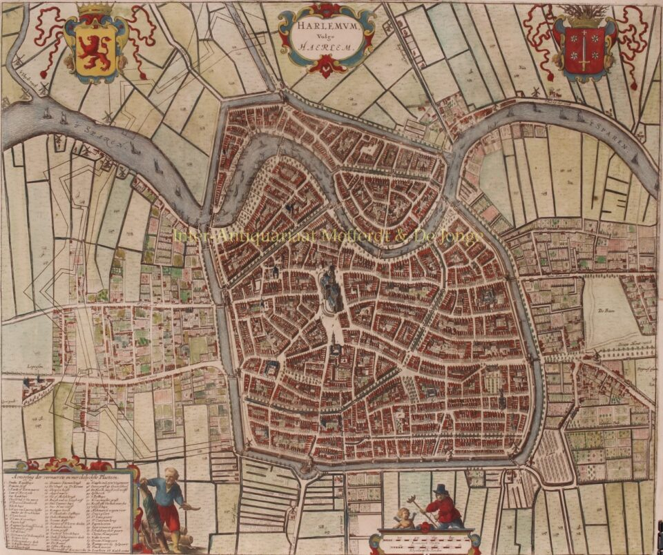 plattegrond van Haarlem, ca. 1690