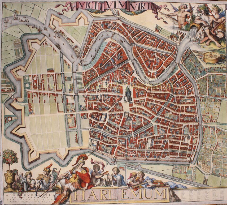 17e-eeuwse wandkaart van Haarlem