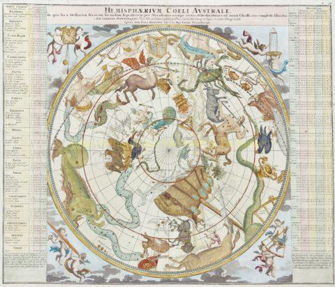 Sterrenbeelden vanaf het Zuidelijk Halfrond – Homann + Doppelmayr, 1742-1748