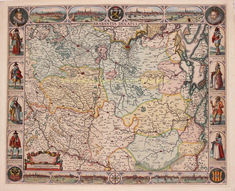 17e-eeuwse gravure van het Hertogdom Brabant