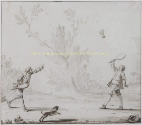 Het Pluimspel – Johan Hendrik Keller, 1743