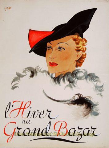 Winter hoedenmode – Lode Sebregs, begin jaren 1930