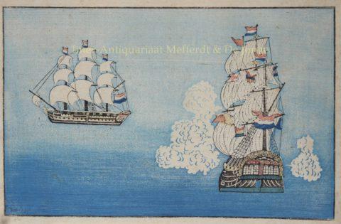 Nederlandse schepen in Dejima, Japan – 1820-1860