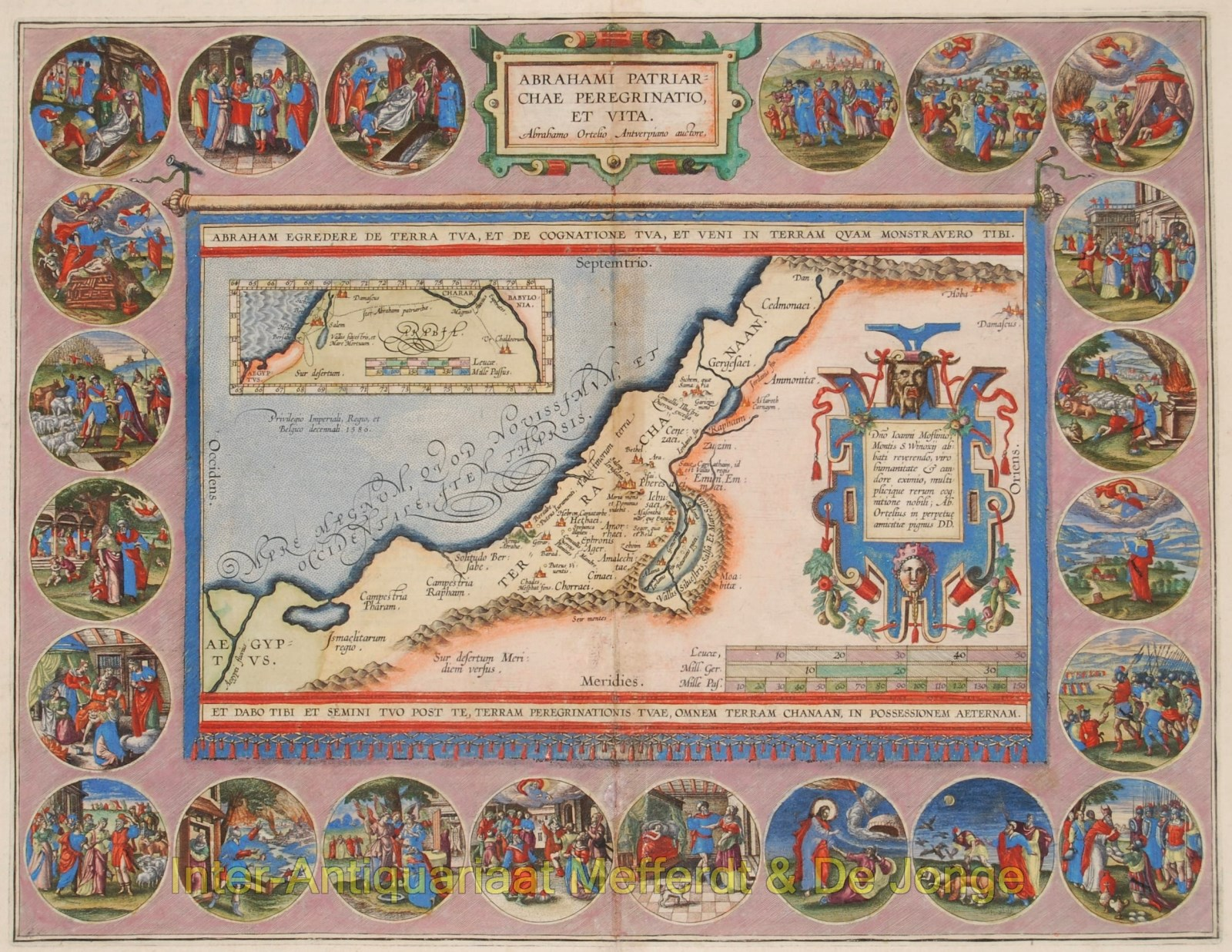 Holy Land map - Ortelius