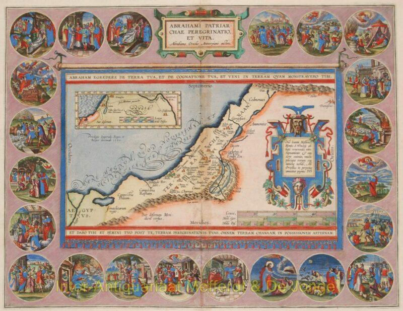Holy Land – Abraham Ortelius, 1595