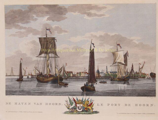 de haven van Hoorn eind 18e-eeuw