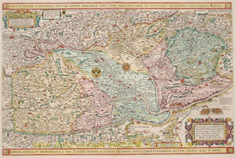 Hungary antique map – Visscher, 1634