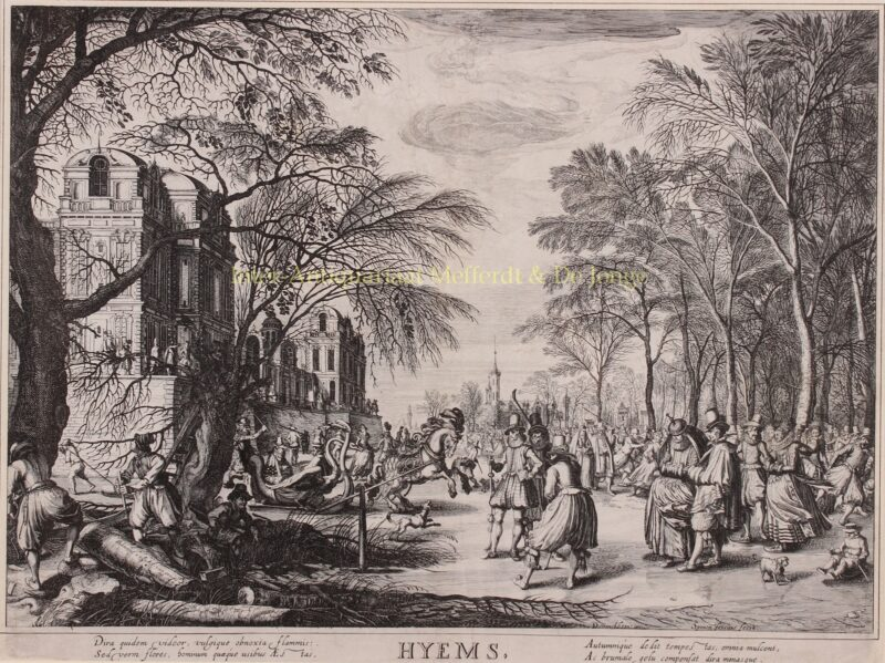 Wintertafereel – Simon Frisius naar David Vinckboons, 1618