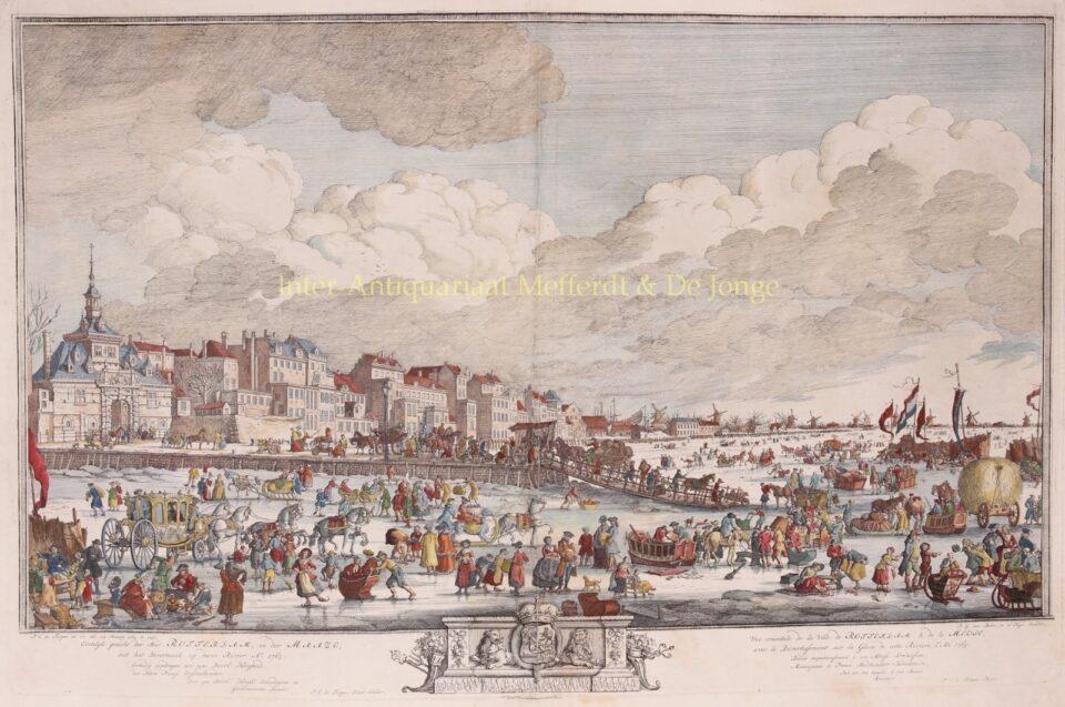 bevroren Maas bij Rotterdam 1763