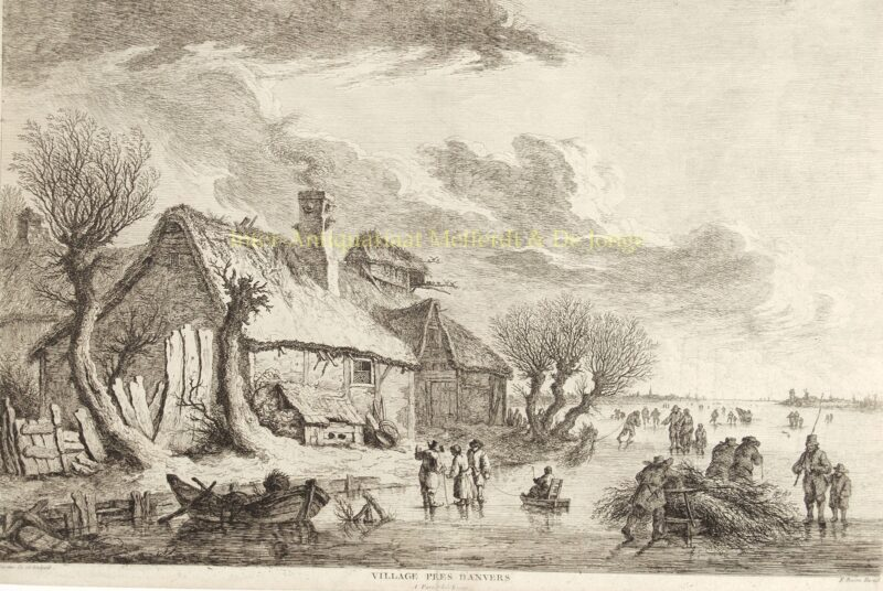 ijsgezicht nabij Antwerpen – Franz Edmund Weirotter, 1775