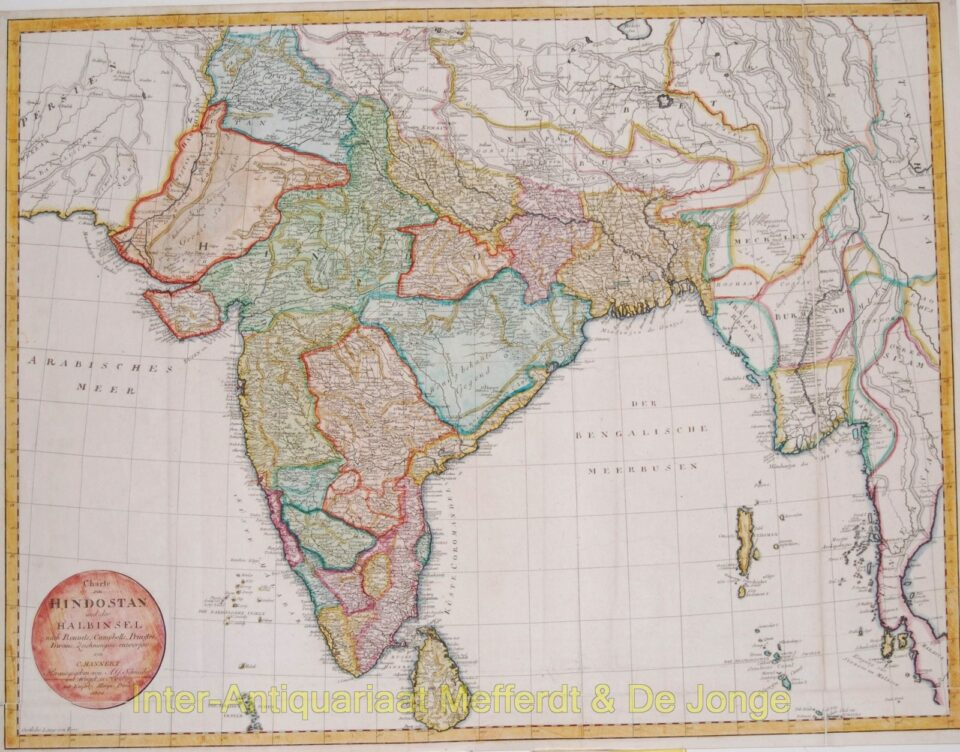 India antique map - Mannert