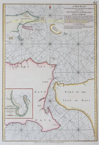 Indonesia, Strait of Bali – Laurie and Whittle, 1794