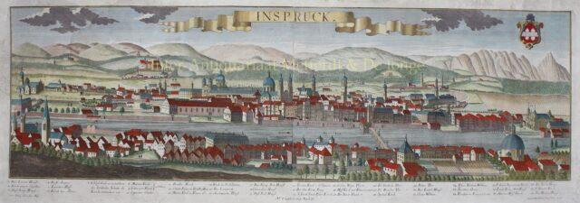 18e-eeuws gezicht op Innsbruck