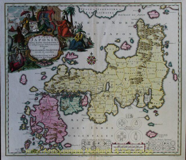 Japan map - Seutter