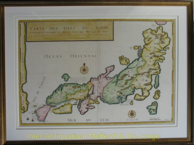 Japan map - Durant after Tavernier