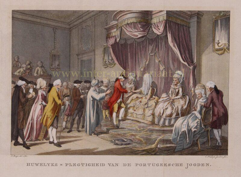 Joods huwelijk (Chatoena) – Caspar Philips Jacobsz. naar Jacobus Buys, 1780